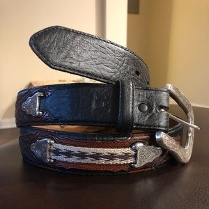 Western Justin leather belt